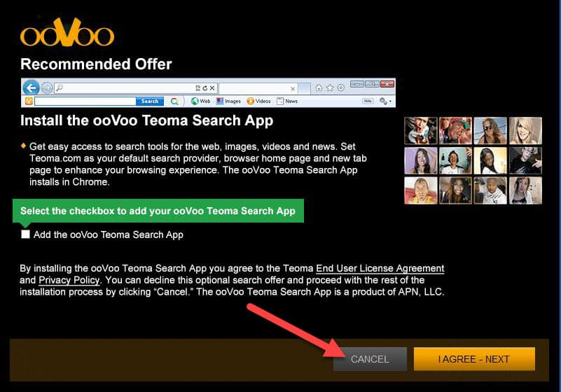 avoid oovoo add-ons