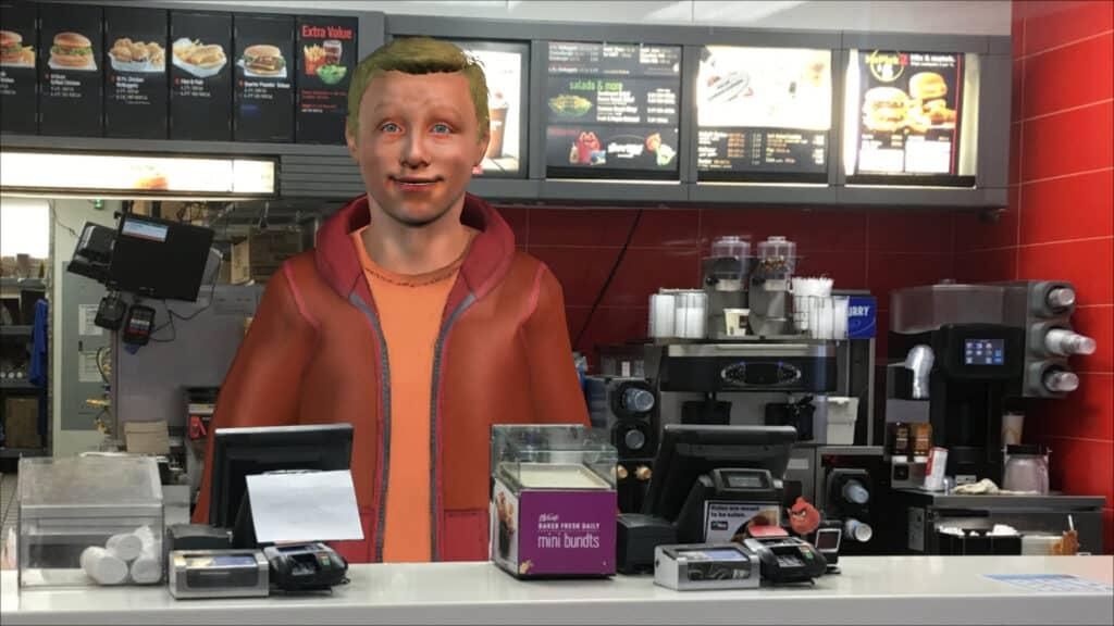 Avatar in McDonald's